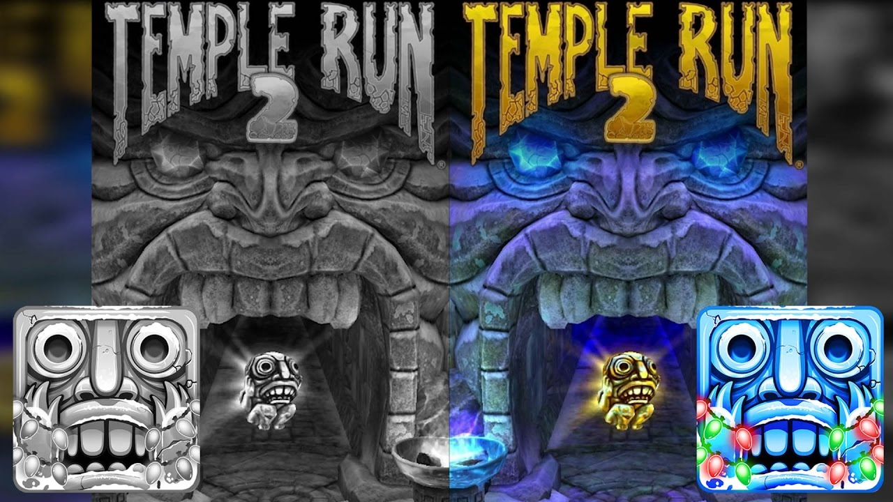 temple run coloring pages - black and white temple run 2 frozen shadows vs color
