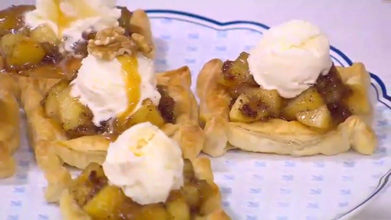 فطائر بالتفاح والقرفة - سلطة خيار بصوص مميز- دجاج بصوص الباربيكيو : حلو وحادق حلقة كاملة