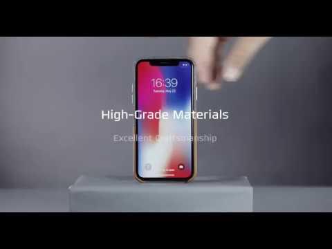 ESR iPhone X hoesje leer met pasjeshouder bruin