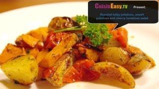 Vegetarian Recipe: Roasted Sweet Potatoes And Cherry Tomatoes Salad