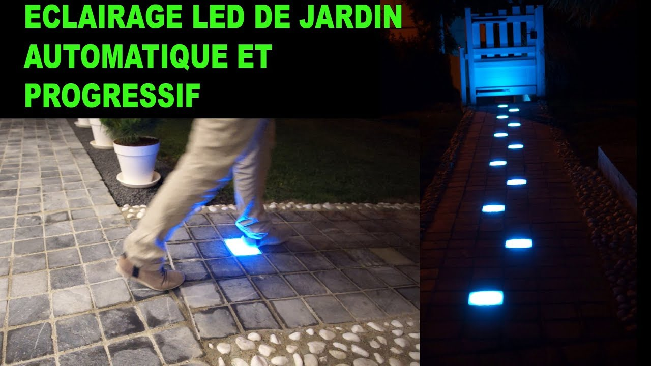 eclairage led rgb pour all e de jardin avec la rgb max v3. Black Bedroom Furniture Sets. Home Design Ideas