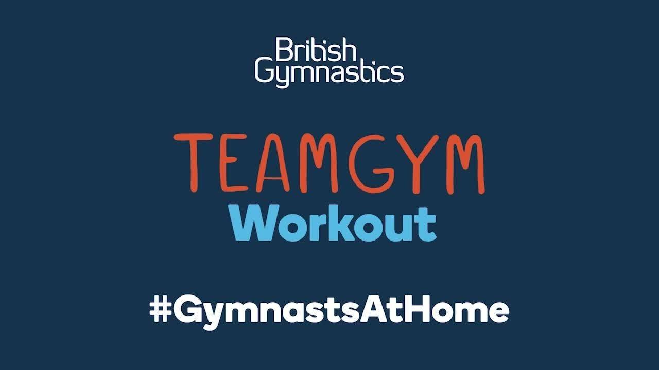 #GymnastsAtHome TeamGym discipline fitness session