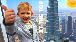 Самое высокое здание в Мире Бурдж Халифа. Amazing view from the Burj Khalifa - At the top