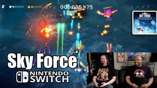 SKY FORCE RELOADED (Co-Op Shoot'em Up) on Nintendo SWITCH w/ Radical Reggie