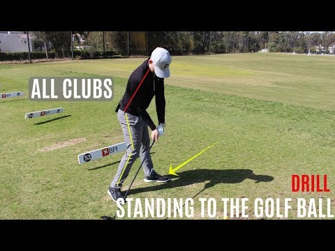 HOW TO STAND TO THE GOLF BALL WITH ALL CLUBS