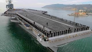 US Military Navy Ship Tour - Pilothouse Bridge - Jet Aircraft Carrier