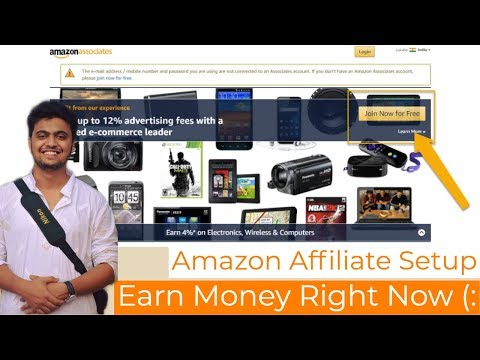 Amazon affiliate marketing tutorial a beginner's step by step guide | Hindi thumbnail