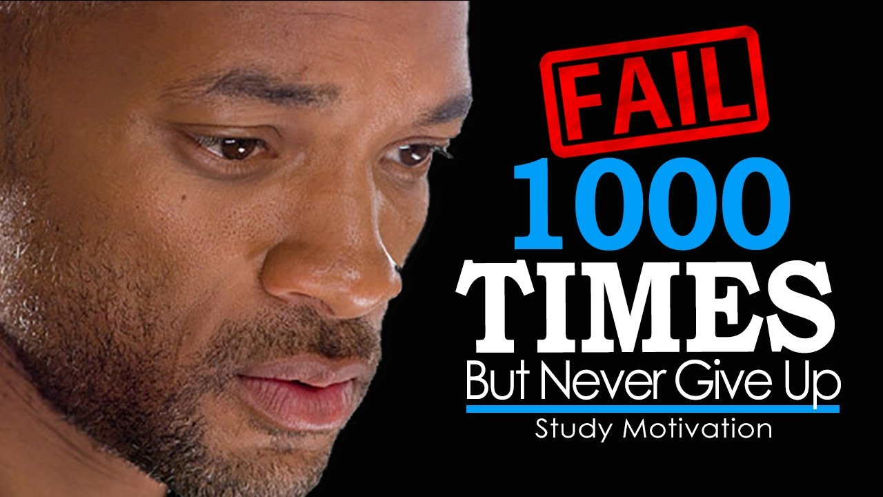 FAIL YOUR WAY TO SUCCESS - Motivational Video on Never Giving Up