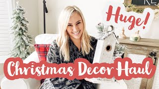 MAJOR CHRISTMAS DECOR HAUL! 🎄 CHRISTMAS DECORATION IDEAS 2019 *SNEAK PEAK* | FARMHOUSE STYLE