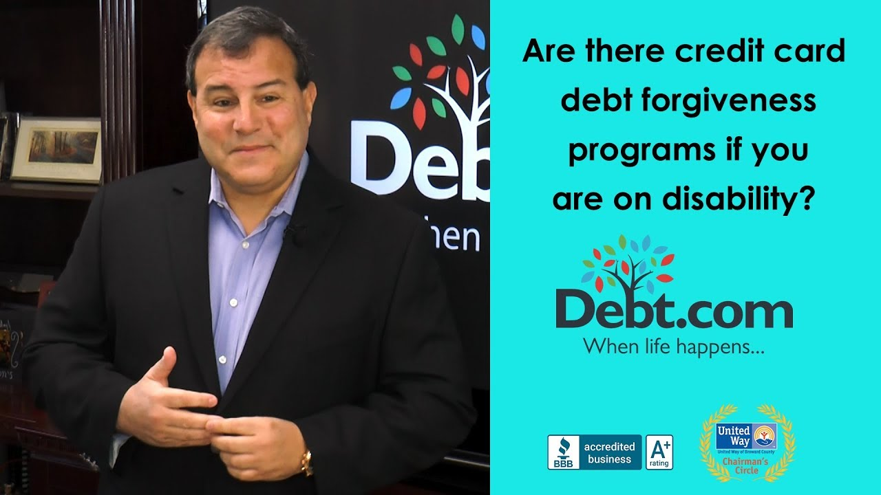 Credit card debt forgiveness for a disability debt howard dvorkin cpa answers reheart Gallery