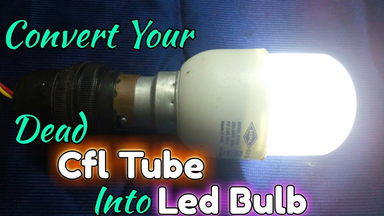 How To Make Led Bulb At Home Simple Lamp Circuit Convert Your Old Cfl Into Or New