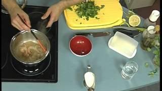 Завтрак. Креветки в сливочном соусе