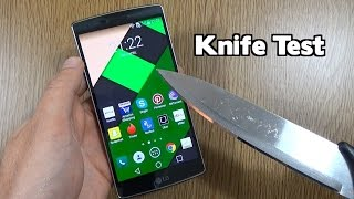 LG G Flex 2 - Knife Scratch Test!