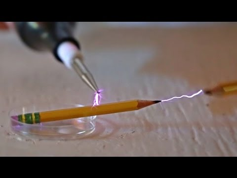 Tesla Coil vs Graphite Pencil