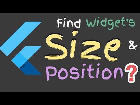 Flutter: Find Widget's Size & Position Using Render Object