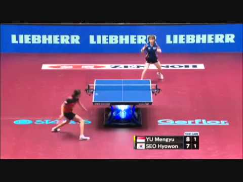 2014 world table tennis championship seo hyo won vs yu - Table tennis world championship 2014 ...