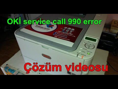 oki service call 990 error çözümü