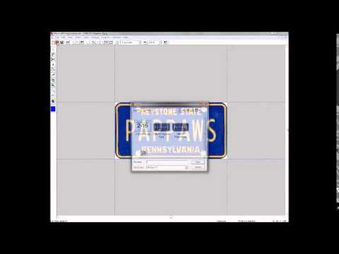 How To Make Print License Plates Youtube