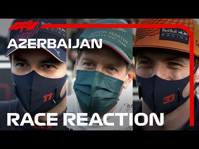 Reflecting On A Dramatic Finish! Drivers' Post-race Interviews   2021 Azerbaijan Grand Prix