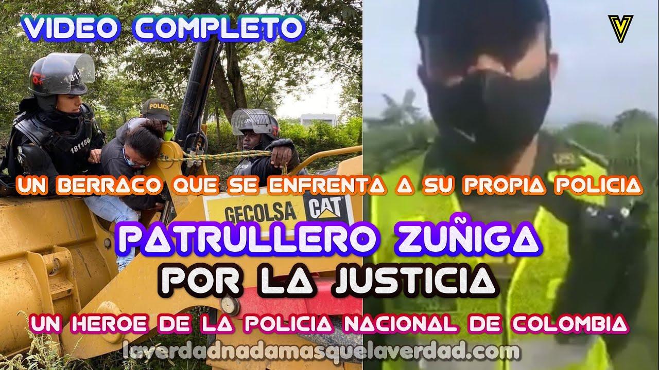 ZUÑIGA PATRULLERO DE LA POLICIA NACIONAL DE COLOMBIA SE NIEGA A SEGUIR ORDENES (Viva Esta Policía)