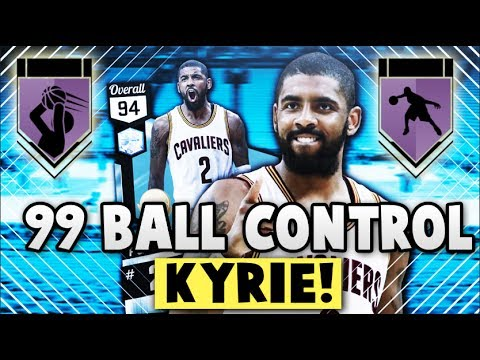 2ce1093540e NBA 2K17 MyTEAM 99 BALL CONTROL DIAMOND KYRIE IRVING STATS!!  6 HOF BADGES