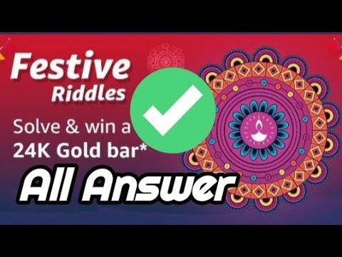 Amazon Festive Riddles Amazon Quiz Answers Today Youtube