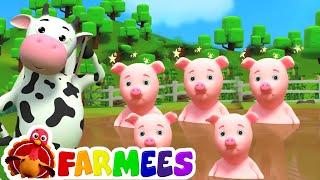 Cinco piggies pequenos | rimas para crianças | crianças músicas compilação em português thumbnail