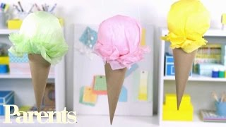 Party Decorations Ideas -- Easy Ice-cream Craft
