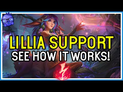 NEW SUPPORT? Lillia Support Build & Gameplay - League of Legends