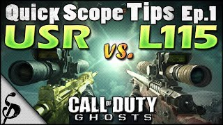 Call of Duty Ghosts Quick Scope Tips - Ep1 - USR vs L115 - Best Bolt-Action Sniper for Quickscoping? + Stats, Chrome Lined & Reload Cancel