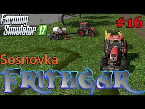 Let's Play Farming Simulator 2017, Sosnovka #16: Baling With Follow Me!