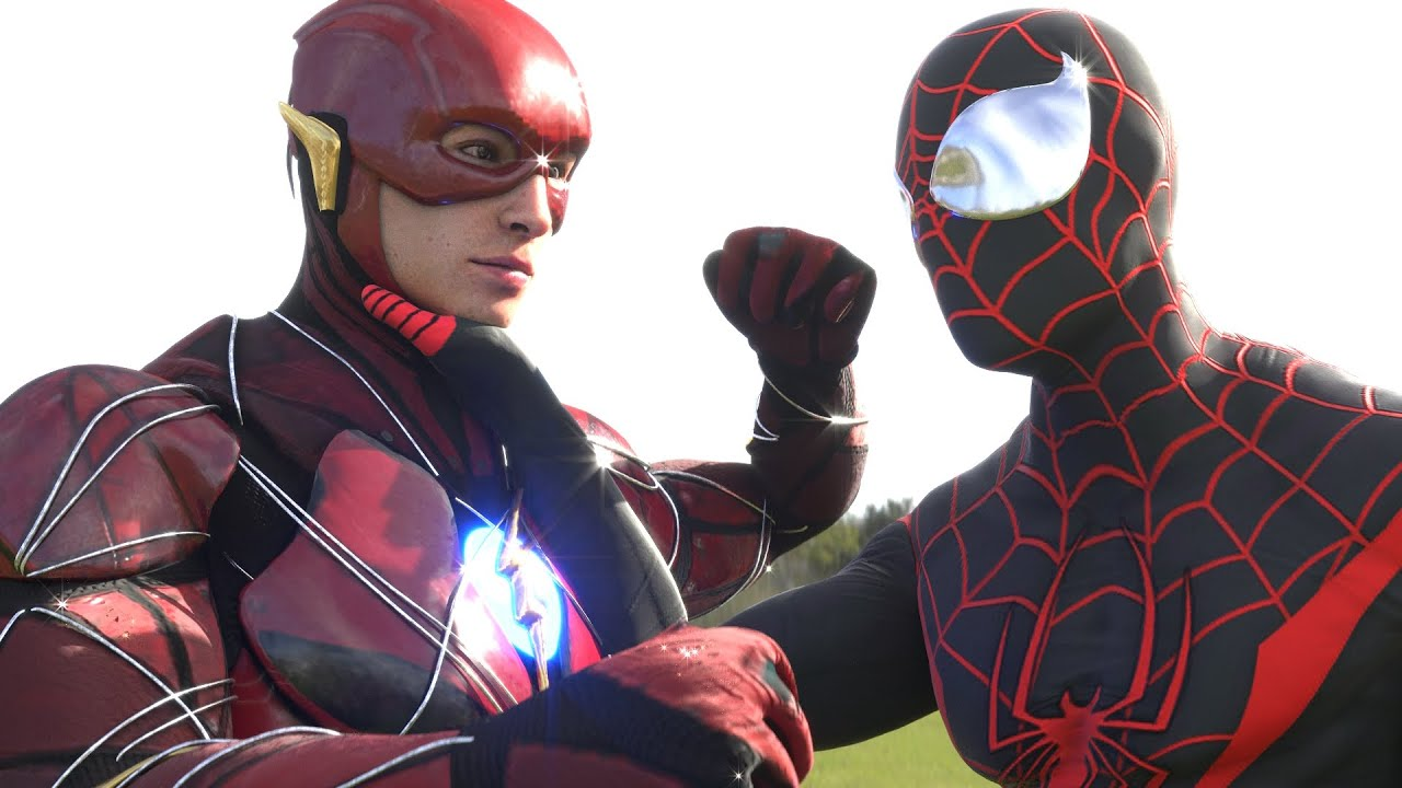 PS5 SPIDER-MAN MILES MORALES vs THE FLASH, SPIDERMAN PS4 VS GRODD & SUB-ZERO