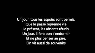 Damien Sargue (les 3mousquetaires) - Un jour - ParolesMusic