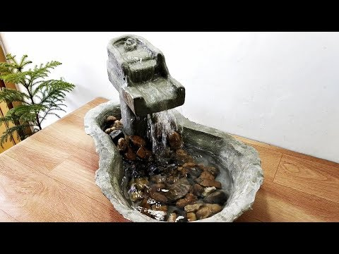 How to make very beautiful cemented waterfall fountain water fountain