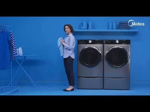 Midea 8.0 Cu Ft Front Load Dryer - Pure Steam Technology