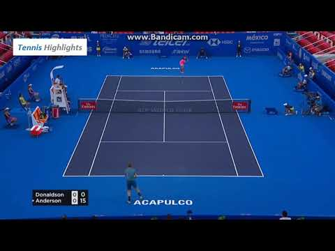 Jared Donalson Vs Kevin Anderson Atp 500 Acapulco SF (HD Highlights)