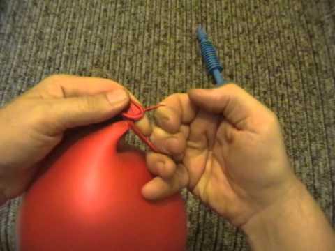 Как быстро завязать шарик