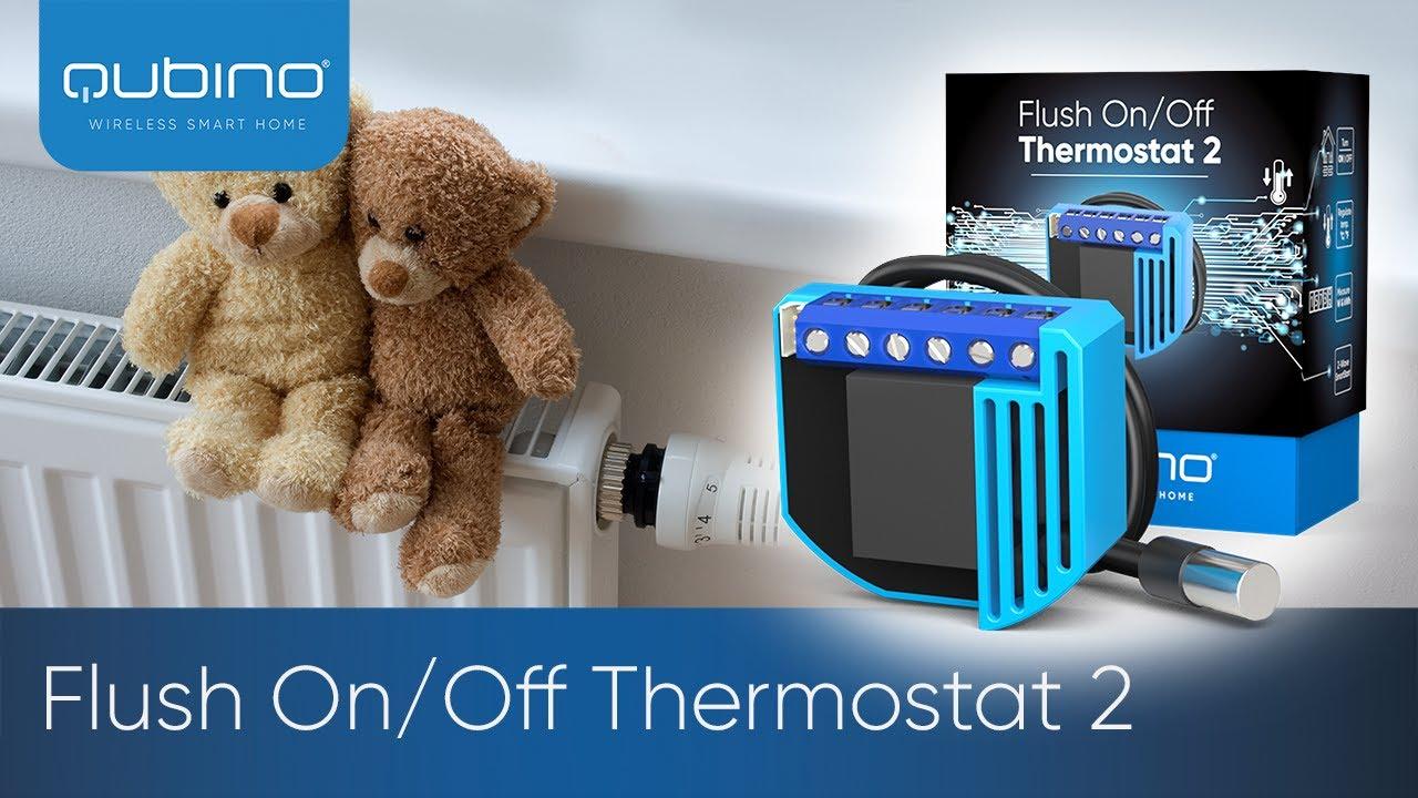 QUBINO Module thermostat 2 on//off encastrable Z-Wave Plus