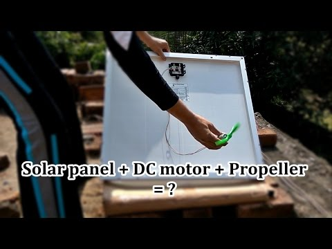Solar powered fan | Solar panel and DC motor