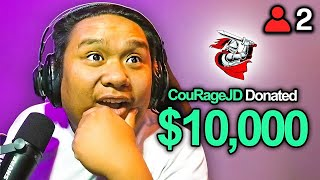 Surprising small streamers with $10,000