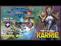 Savage Perfect with 2 Maniac in 2 Matches  johnny shirt Top 1 Global Karrie   Mobile Legends