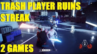 Star Wars Battlefront 2 - Post patch Dooku new HvsV! | Teammate ruined my Yoda Killstreak! 2 games