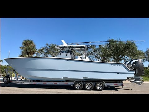 Freeman 37vh With Seven Marine Outboards Sea Trial. Fastest Fishing Boat?!?? 80mph!