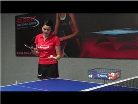 Table tennis how to hit a forehand top spin serve in for Table tennis serving rules