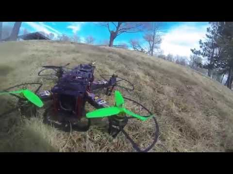 first/last flight with PropGuards for 250 Class Racer on FPV250 V2 Quad