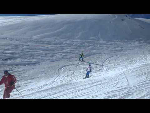 Stubai glacier half term february 2016 6yo skiing