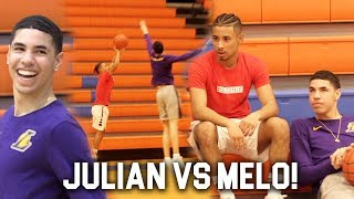 LaMelo Ball & Julian Newman Go At Each Other in Pick Up Game!!