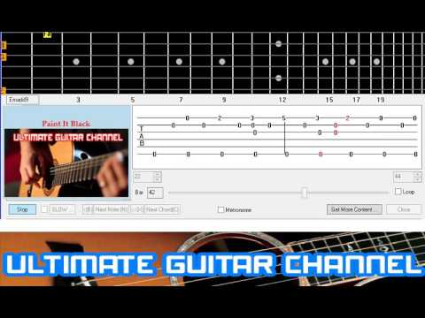Guitar Solo Tab] Paint It Black (Rolling Stones) - YouTube