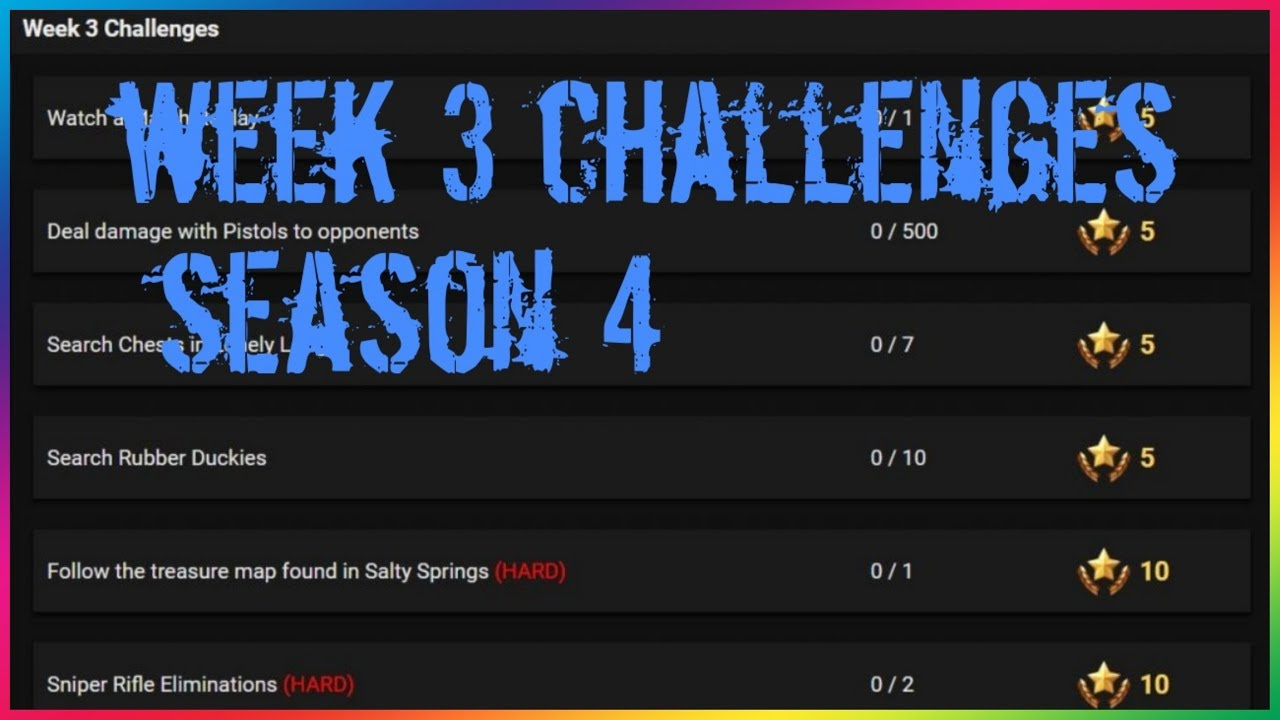 Fortnite All week 3 challenges《leaked》