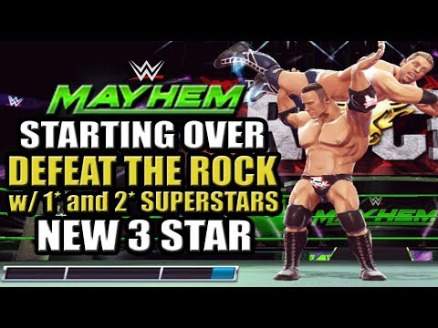 WWE Mayhem - Starting Over, How To Defeat The Rock Unstoppable Giant Event, New 3 Star